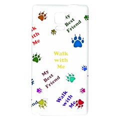 Animals Pets Dogs Paws Colorful Galaxy Note 4 Back Case