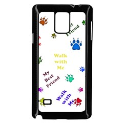 Animals Pets Dogs Paws Colorful Samsung Galaxy Note 4 Case (black)
