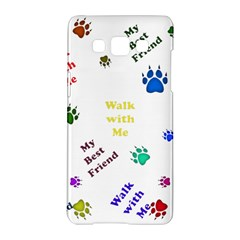 Animals Pets Dogs Paws Colorful Samsung Galaxy A5 Hardshell Case