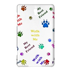 Animals Pets Dogs Paws Colorful Samsung Galaxy Tab S (8.4 ) Hardshell Case