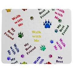 Animals Pets Dogs Paws Colorful Jigsaw Puzzle Photo Stand (rectangular)