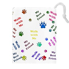 Animals Pets Dogs Paws Colorful Drawstring Pouches (xxl)