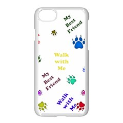 Animals Pets Dogs Paws Colorful Apple Iphone 7 Seamless Case (white)