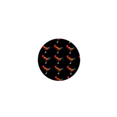 Background Pattern Chicken Fowl 1  Mini Buttons