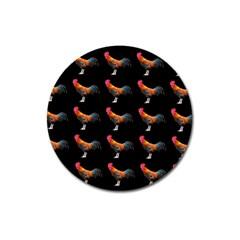 Background Pattern Chicken Fowl Magnet 3  (round)