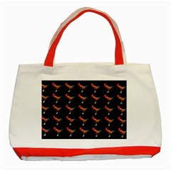 Background Pattern Chicken Fowl Classic Tote Bag (red)