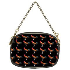 Background Pattern Chicken Fowl Chain Purses (two Sides)