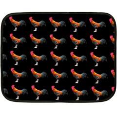 Background Pattern Chicken Fowl Fleece Blanket (mini)