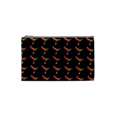 Background Pattern Chicken Fowl Cosmetic Bag (small)