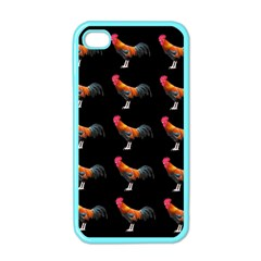 Background Pattern Chicken Fowl Apple Iphone 4 Case (color)