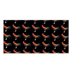 Background Pattern Chicken Fowl Satin Shawl