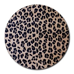 Background Pattern Leopard Round Mousepads