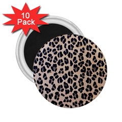 Background Pattern Leopard 2 25  Magnets (10 Pack)