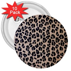 Background Pattern Leopard 3  Buttons (10 Pack)