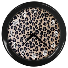 Background Pattern Leopard Wall Clocks (black)