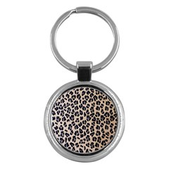 Background Pattern Leopard Key Chains (round)