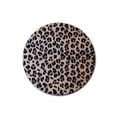 Background Pattern Leopard Rubber Coaster (round)
