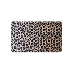 Background Pattern Leopard Magnet (name Card)