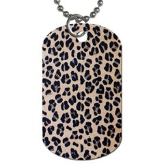 Background Pattern Leopard Dog Tag (two Sides)