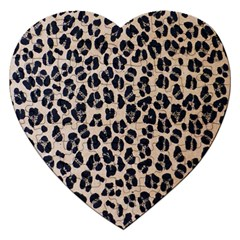 Background Pattern Leopard Jigsaw Puzzle (Heart)