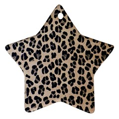 Background Pattern Leopard Star Ornament (two Sides)