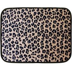 Background Pattern Leopard Double Sided Fleece Blanket (mini)