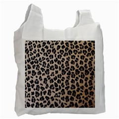 Background Pattern Leopard Recycle Bag (two Side)