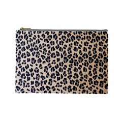 Background Pattern Leopard Cosmetic Bag (large)