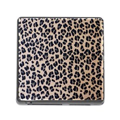 Background Pattern Leopard Memory Card Reader (square)