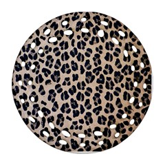 Background Pattern Leopard Round Filigree Ornament (two Sides)