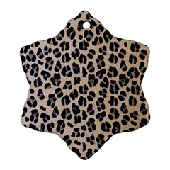 Background Pattern Leopard Snowflake Ornament (Two Sides)