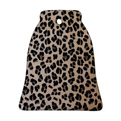 Background Pattern Leopard Bell Ornament (two Sides)
