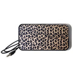 Background Pattern Leopard Portable Speaker (black)