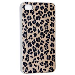 Background Pattern Leopard Apple Iphone 4/4s Seamless Case (white)