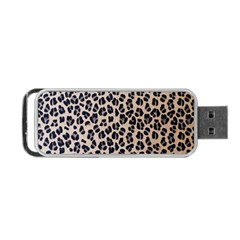 Background Pattern Leopard Portable Usb Flash (two Sides)