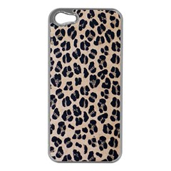 Background Pattern Leopard Apple Iphone 5 Case (silver)