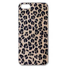 Background Pattern Leopard Apple Seamless Iphone 5 Case (clear)