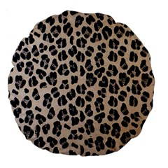 Background Pattern Leopard Large 18  Premium Round Cushions