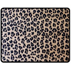 Background Pattern Leopard Double Sided Fleece Blanket (medium)