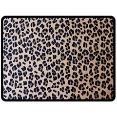 Background Pattern Leopard Double Sided Fleece Blanket (large)