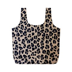Background Pattern Leopard Full Print Recycle Bags (m)