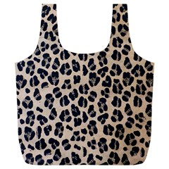 Background Pattern Leopard Full Print Recycle Bags (l)