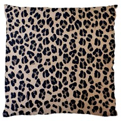 Background Pattern Leopard Large Flano Cushion Case (one Side)