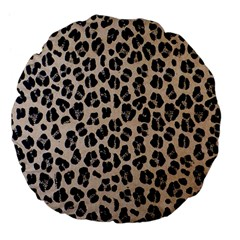 Background Pattern Leopard Large 18  Premium Flano Round Cushions