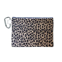 Background Pattern Leopard Canvas Cosmetic Bag (m)
