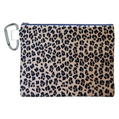 Background Pattern Leopard Canvas Cosmetic Bag (xxl)