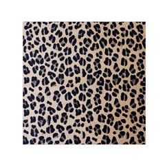 Background Pattern Leopard Small Satin Scarf (square)