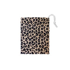 Background Pattern Leopard Drawstring Pouches (xs)