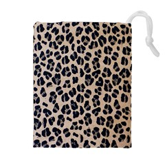 Background Pattern Leopard Drawstring Pouches (extra Large)
