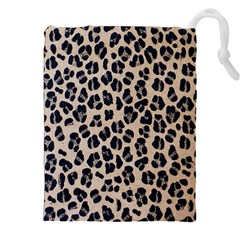 Background Pattern Leopard Drawstring Pouches (XXL)